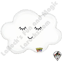 30 Inch Shape Mighty Bright Sleepy Cloud Non-Foil Balloon Betallatex 1ct