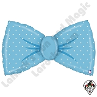 42 Inch Shape Blue Bowtie Foil Balloon Betallatex 1ct
