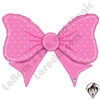 43 Inch Shape Pink Bow Foil Balloon Betallatex 1ct