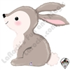 36 Inch Shape Woodland Bunny Foil Balloon Betallatex 1ct