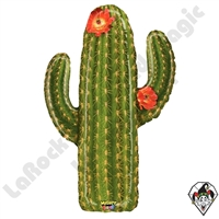 41 Inch Shape Mighty Bright Cactus Non-Foil Balloon Betallatex 1ct