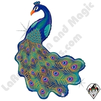 42 Inch Shape Glitter Peacock Foil Balloon Betallatex 1ct