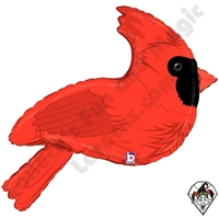 34 Inch Shape Red Cardinal Foil Balloon Betallic 1ct