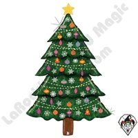 60 Inch Shape Special Delivery Glitter Christmas Tree Foil Balloon Betallatex 1ct