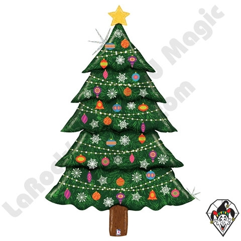 Foil Christmas Tree.60 Inch Shape Special Delivery Glitter Christmas Tree Foil Balloon Betallatex 1ct