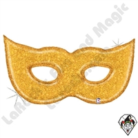 51 Inch Shape Gold Glitter Mask Foil Balloon Betallic 1ct