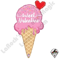 35 Inch Shape Sweet Valentine Ice Cream Foil Balloon Betallic 1ct