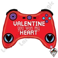34 Inch Shape Valentine Gamer Foil Balloon Betallic 1ct