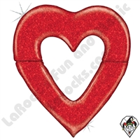 48 Inch Shape Special Delivery Red Heart Foil Balloon Betallic 1ct
