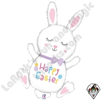 38 Inch Shape Hopping Easter Bunny Foil Balloon Betallatex 1ct