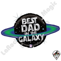31 Inch Shape Galactic Dad Foil Balloon Betallic 1ct