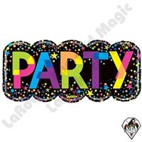 38 Inch Shape Mighty Bright Colorful Party Non-Foil Balloon Betallatex 1ct