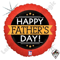 18 Inch Round  Father's Day Banner Holographic Foil Balloon Betallatex 1ct