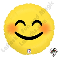 Betallic 18 Inch Round Emoji Smiley Foil Balloon 1ct