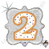 Betallatex 18 Inch Square Birthday Candle 2 Foil Balloon 1ct