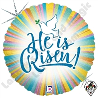 18 Inch Round He Is Risen Foil Balloon Betallatex 1ct
