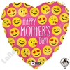 18 Inch Heart Emoji Mother's Day Foil Balloon Betallatex 1ct