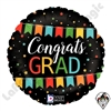 18 Inch Round Max Float Congrats Grad Banner Foil Balloon Betallatex 1ct