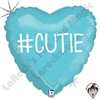 18 Inch Heart Hashtag Cutie Boy Foil Balloon Betallatex 1ct