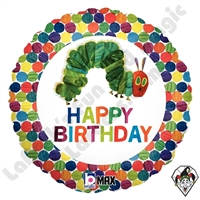 18 Inch Round The Very Hungry Caterpillar Happy Birthday Foil Balloon Betallic 1ct