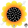18 Inch Shape Sunny Sunflower Foil Balloon Betallatex 1ct