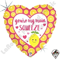 18 Inch Heart Main Squeeze Foil Balloon Betallatex 1ct