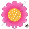 18 Inch Shape Spring Flower Pink Foil Balloon Betallatex 1ct