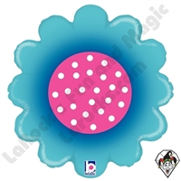 18 Inch Shape Spring Flower Blue Foil Balloon Betallatex 1ct