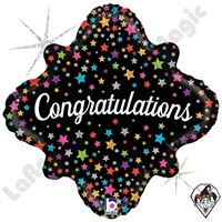 18 Inch Diamond Glittering Congratulations Stars Foil Balloon Betallatex 1ct