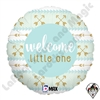 18 Inch Round Welcome Little One Blue Foil Balloon Betallatex 1ct