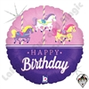 18 Inch Round Carousel Birthday Foil Balloon Betallatex 1ct