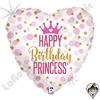 18 Inch Heart Glitter Birthday Princess Foil Balloon Betallatex 1ct