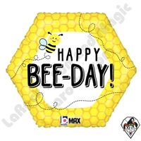 18 Inch Shape Happy Bee-Day Foil Balloon Betallatex 1ct