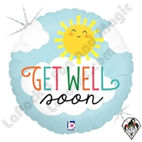 18 Inch Round Get Well Soon Foil Balloon Betallatex 1ct
