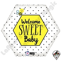 18 Inch Shape Welcome Sweet Baby Foil Balloon Betallatex 1ct