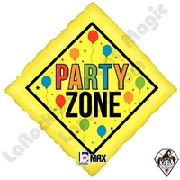 18 Inch Diamond Party Zone Foil Balloon Betallatex 1ct