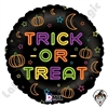 18 Inch Round Neon Trick Or Treat Foil Balloon Betallatex 1ct