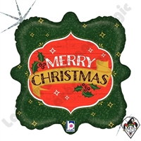 18 Inch Square Vintage Christmas Foil Balloon Betallatex 1ct