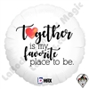 18 Inch Heart Together Foil Balloon Betallatex 1ct