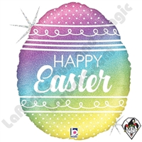 18 Inch Shape Pastel Rainbow Easter Egg Foil Balloon Betallatex 1ct