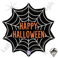 18 Inch Shape Halloween Web Foil Balloon Betallic 1ct