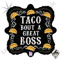 18 Inch Square Taco Great Boss Foil Balloon Betallatex 1ct