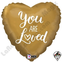 18 Inch Heart You Are Loved Foil Balloon Betallatex 1ct
