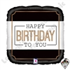 18 Inch Square Classic Birthday Foil Balloon Betallic 1ct