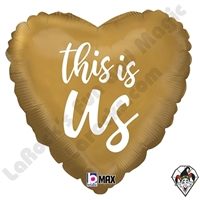 18 Inch Heart This Is Us Foil Balloon Betallic 1ct