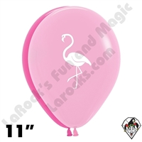 11 Inch Round Flamingo Betallatex 50ct
