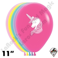 11 Inch Round Unicorn Assortment Betallatex 50ct