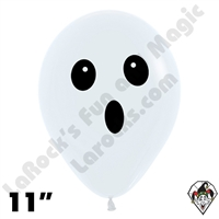 11 Inch Round Ghost Face Betallatex 50ct