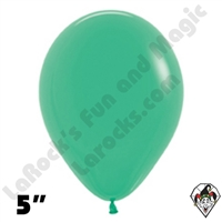 5 Inch Round Fashion Green Betallatex 100ct