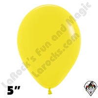 5 Inch Round Fashion Yellow Betallatex 100ct